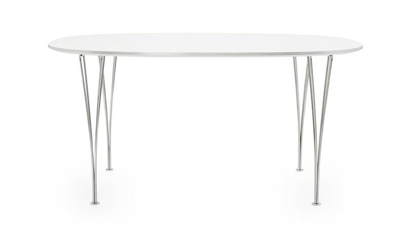 Hvidt-spisebord-fra-Fritz-Hansen