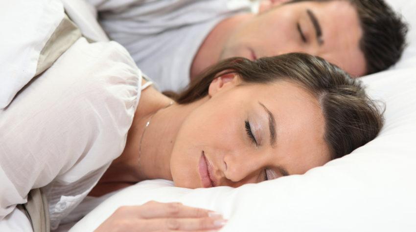 couple sleeping together